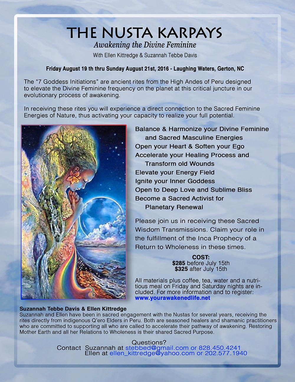 Nusta Karpay: Awakening and Healing the Divine Feminine with Ellen Kittredge and Suzannah Tebbe Davis