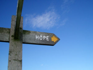 Sign pointing to Hope
