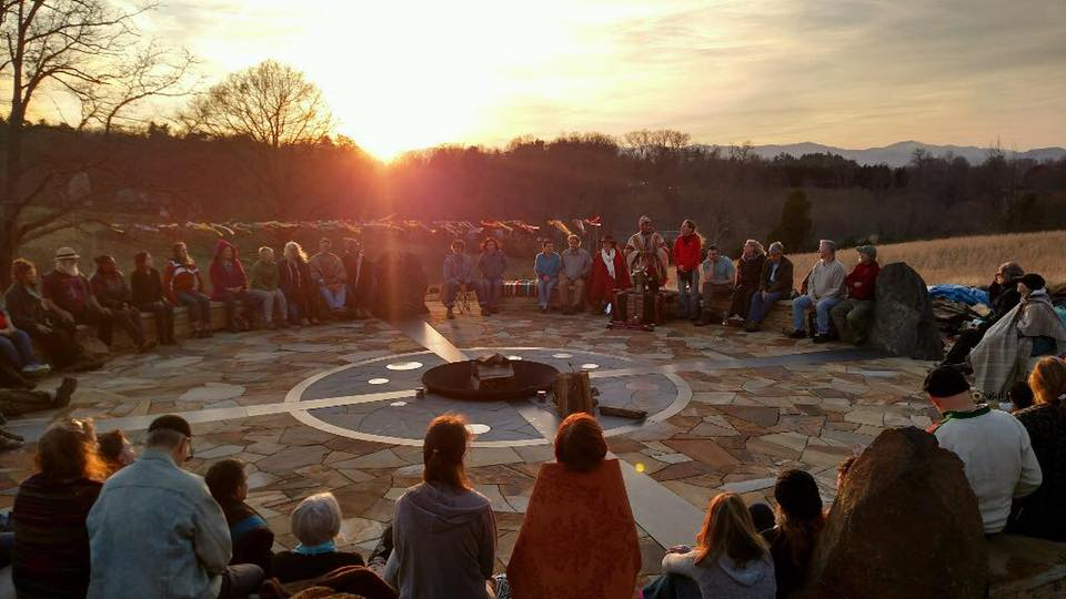 All Our Relations Sunset Fire Circle